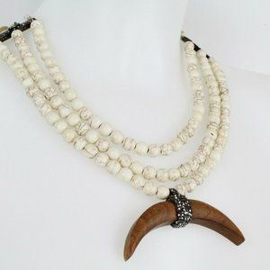 Nala Atelier Naja Ivory and Wood Necklace